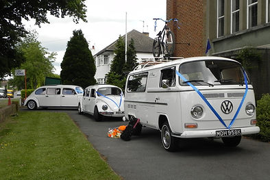 VW camper funeral hearse
