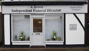j brown funeral servics office