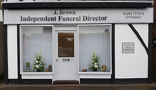 j brown funeral servics office