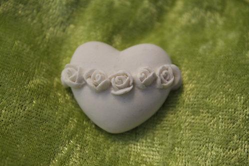 Hjärta med rosor - självhäftande