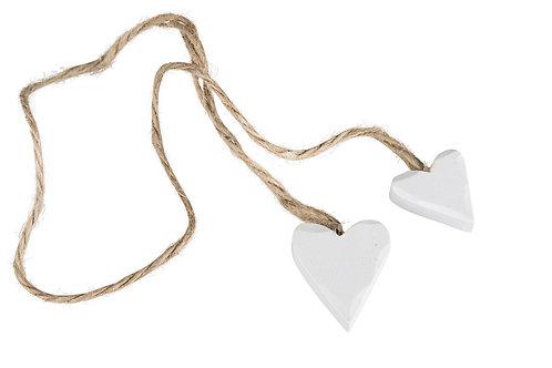 Trähjärta på rep 3 cm
