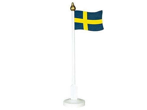 Svensk flagga i trä