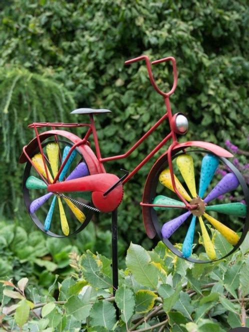 Trädgårdsstick Cykel Färgglad