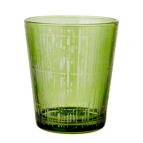 Värmeljushållare Grön