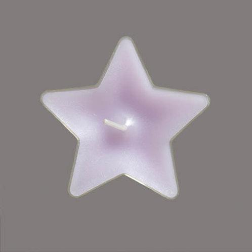 Värmeljus stjärna Lavendel