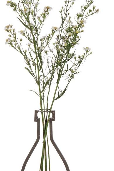 Vas/Ljuslykta i smide+trä 1