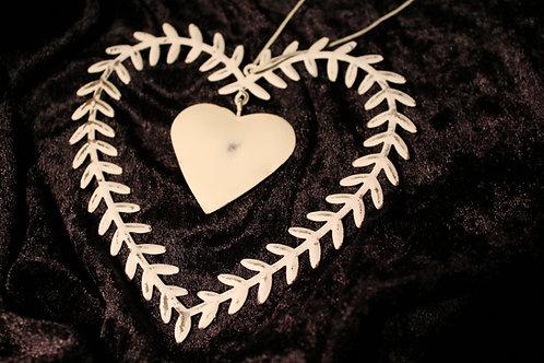 Vitt hjärta metall