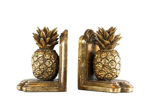 Bokstöd ananas guld