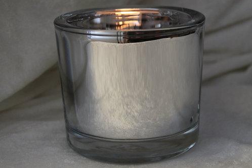 silver/spegel ljuslykta