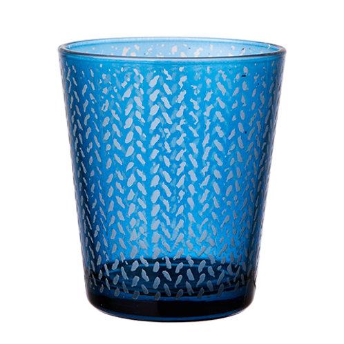 Värmeljushållare Blå
