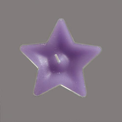 Värmeljus stjärna violet