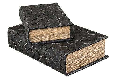 Bokgömma flätad svart 2 st