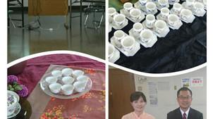 岡山大学・林彦宏先生の講演会で台湾茶を淹れました