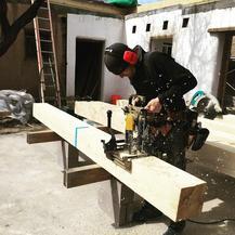 Scott, Lightfoot Founder, working on site