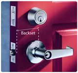 What is the term 'Backset' of a lock mean?