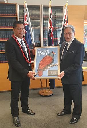 Samoan ICT Minister Visit Frame presenta