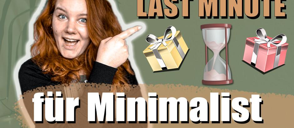 LAST MINUTE Geschenkidee für Minimalisten und Frugalisten
