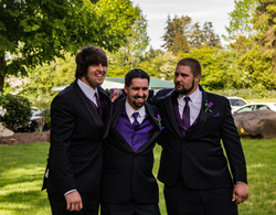 Brothers Groom in the Center