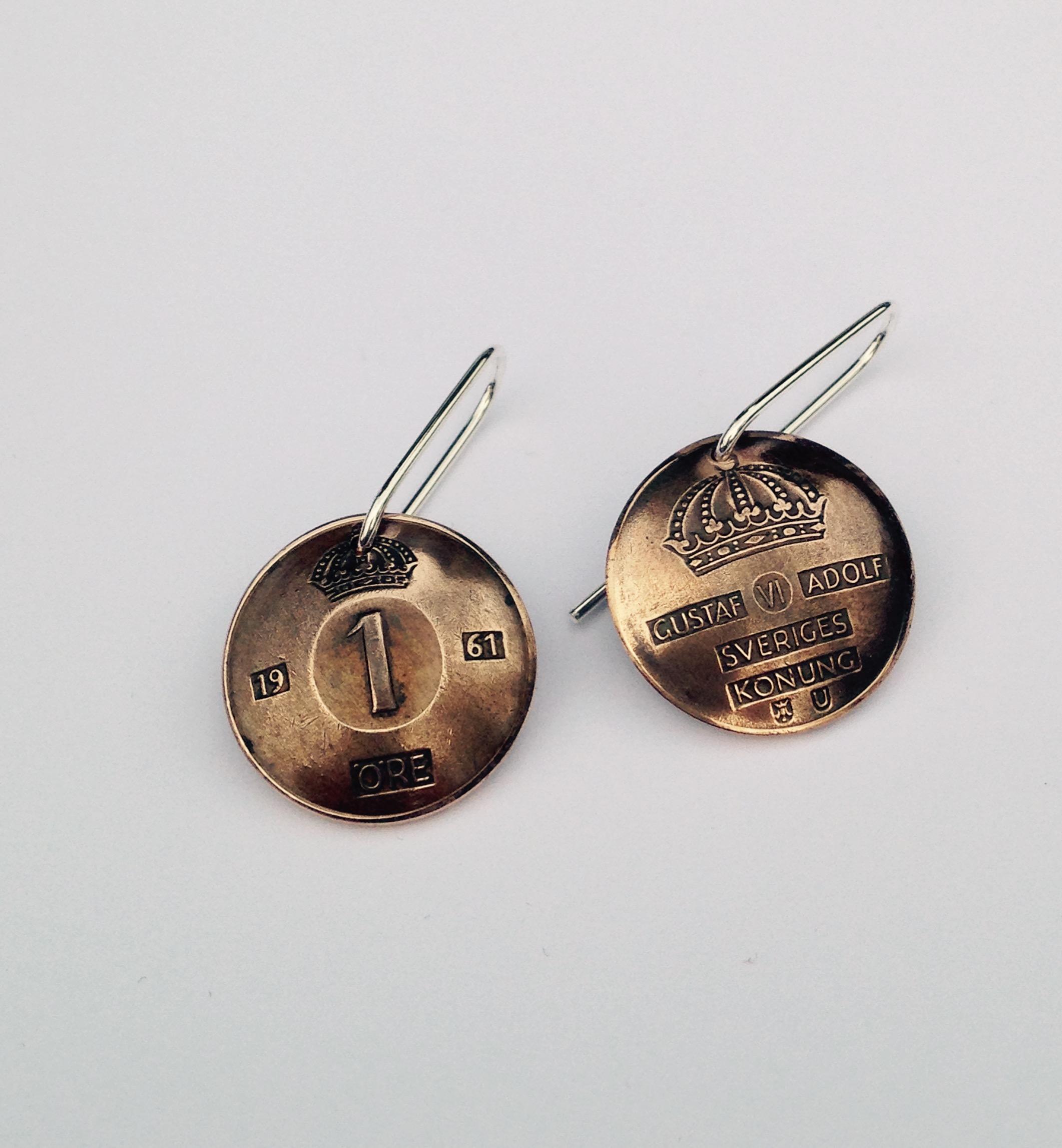 Mynt-örhängen