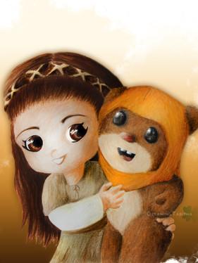 Leia & Wicket