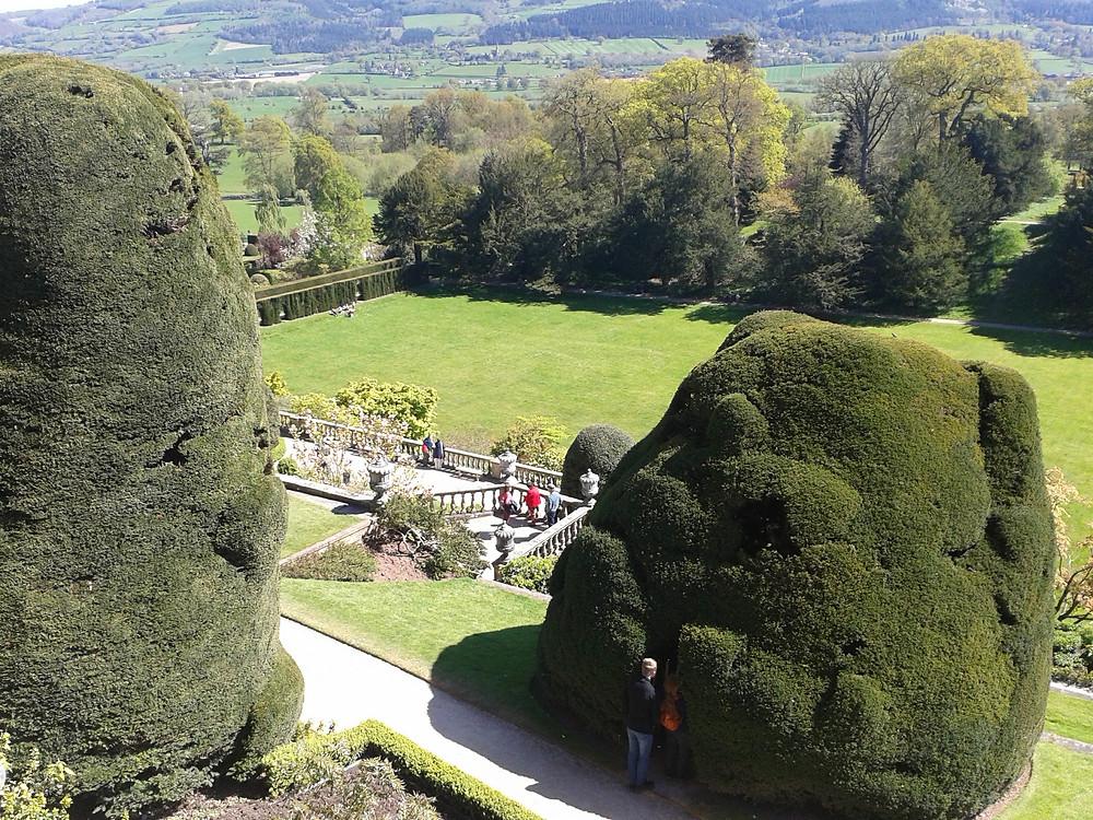 Gardens at Powis castle.