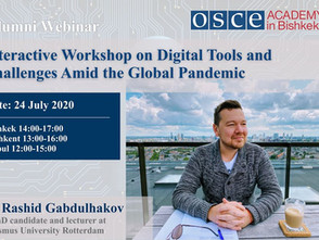 Webinar for OSCE Academy Alumni: Digital Tools and Challenges Amid the Pandemic