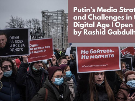 Putin's Media Strategies and Challenges in the Digital Age | Open lecture by Rashid Gabdulhakov
