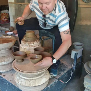 Making some pots