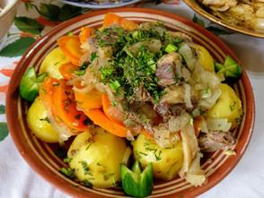 "VIDEO! Crazy simple and simply magic Uzbek cuisine: ""Basma"" (pressed)"