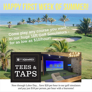 All Summer save $20 per hour in our Golf Simulators
