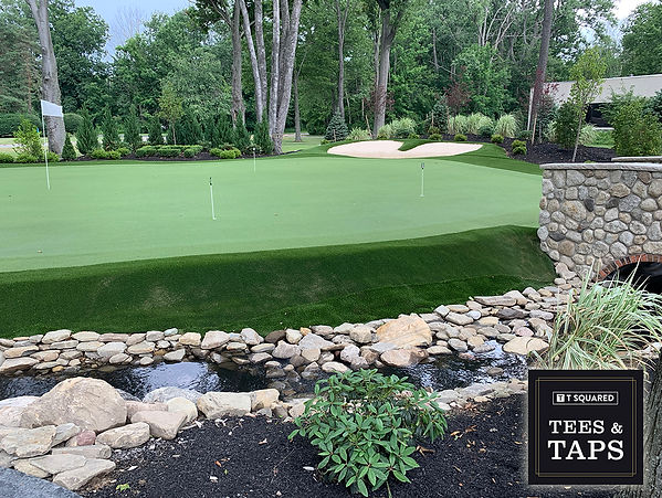 Tees and Taps outdoor putting green