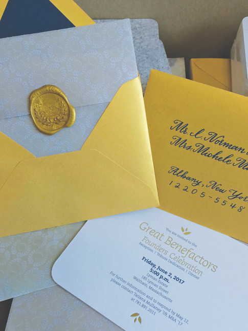 Great Benefactors Invitation Packet