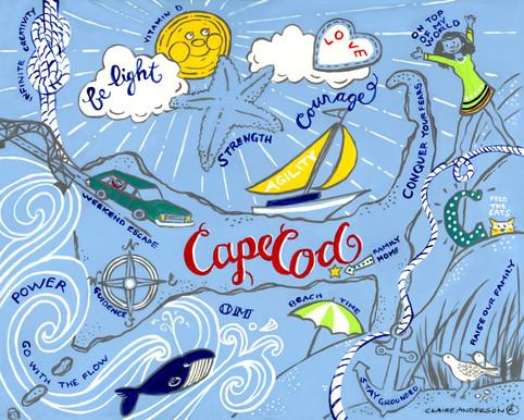Memories map of Cape Cod