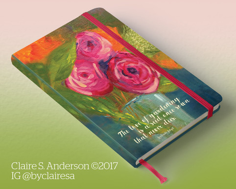 Rose journal cover