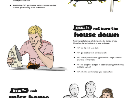 How to survive your first student home