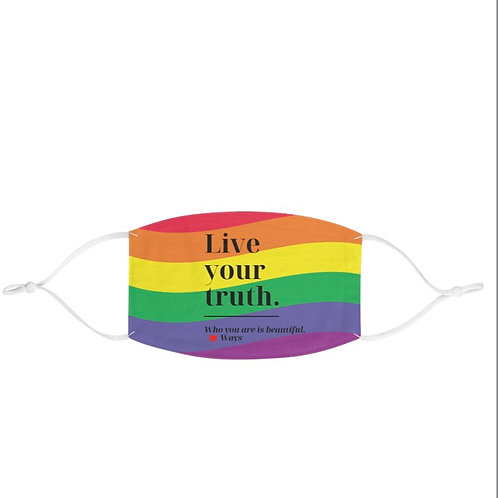 Live Your Truth Pride Mask