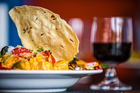 Tortilhas e uma Taça de Vinho
