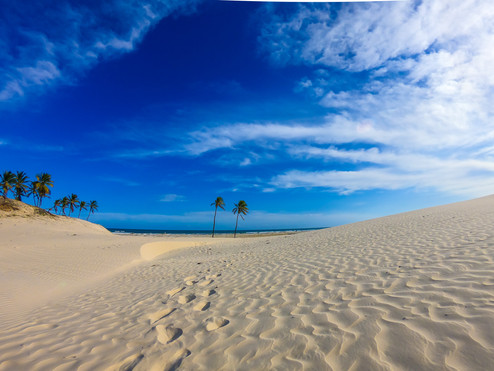 Praia deserta em Mangue Seco