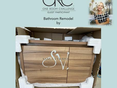 One Room Challenge - Spring 2021 - Bathroom Remodel - Week 7