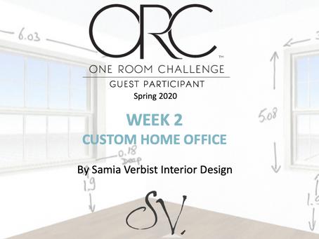 One Room Challenge Spring 2020 - Week 2 - Custom Home Office -