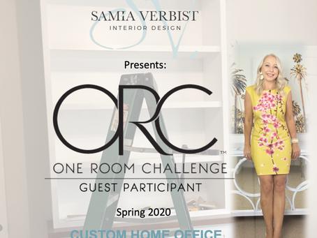 One Room Challenge Spring 2020 - Week 7 - Custom Home Office -