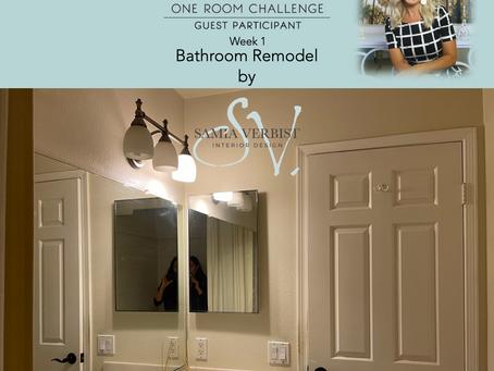 One Room Challenge - Spring 2021 - Bathroom Remodel - Week 1