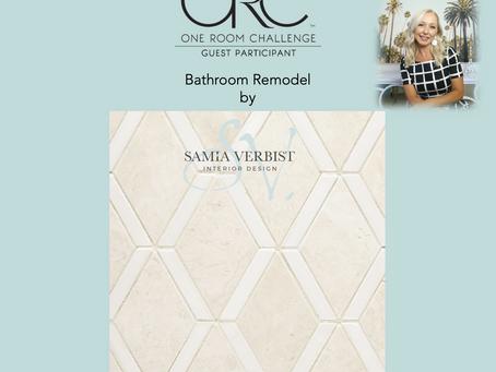 One Room Challenge - Spring 2021 - Bathroom Remodel - Week 6