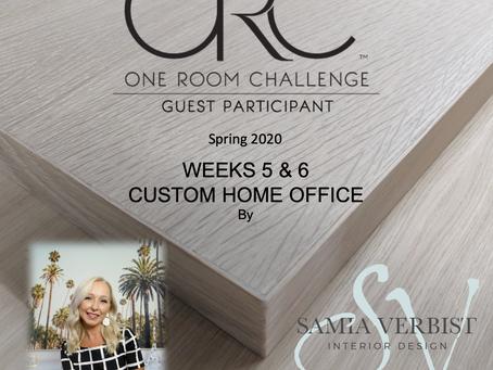 One Room Challenge Spring 2020 - Weeks 5 & 6 - Custom Home Office -