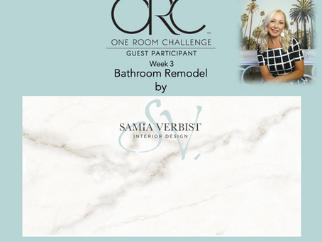 One Room Challenge - Spring 2021 - Bathroom Remodel - Week 3