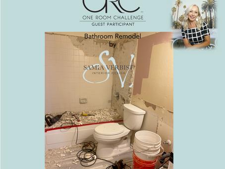 One Room Challenge - Spring 2021 - Bathroom Remodel - Week 5