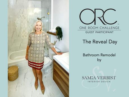 One Room Challenge - Spring 2021 - Week 8 - Bathroom Remodel: The Reveal Day