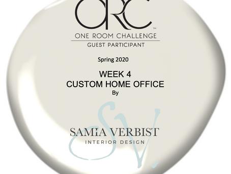 One Room Challenge Spring 2020 - Week 4 - Custom Home Office -