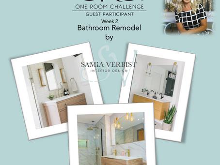One Room Challenge - Spring 2021 - Bathroom Remodel - Week 2