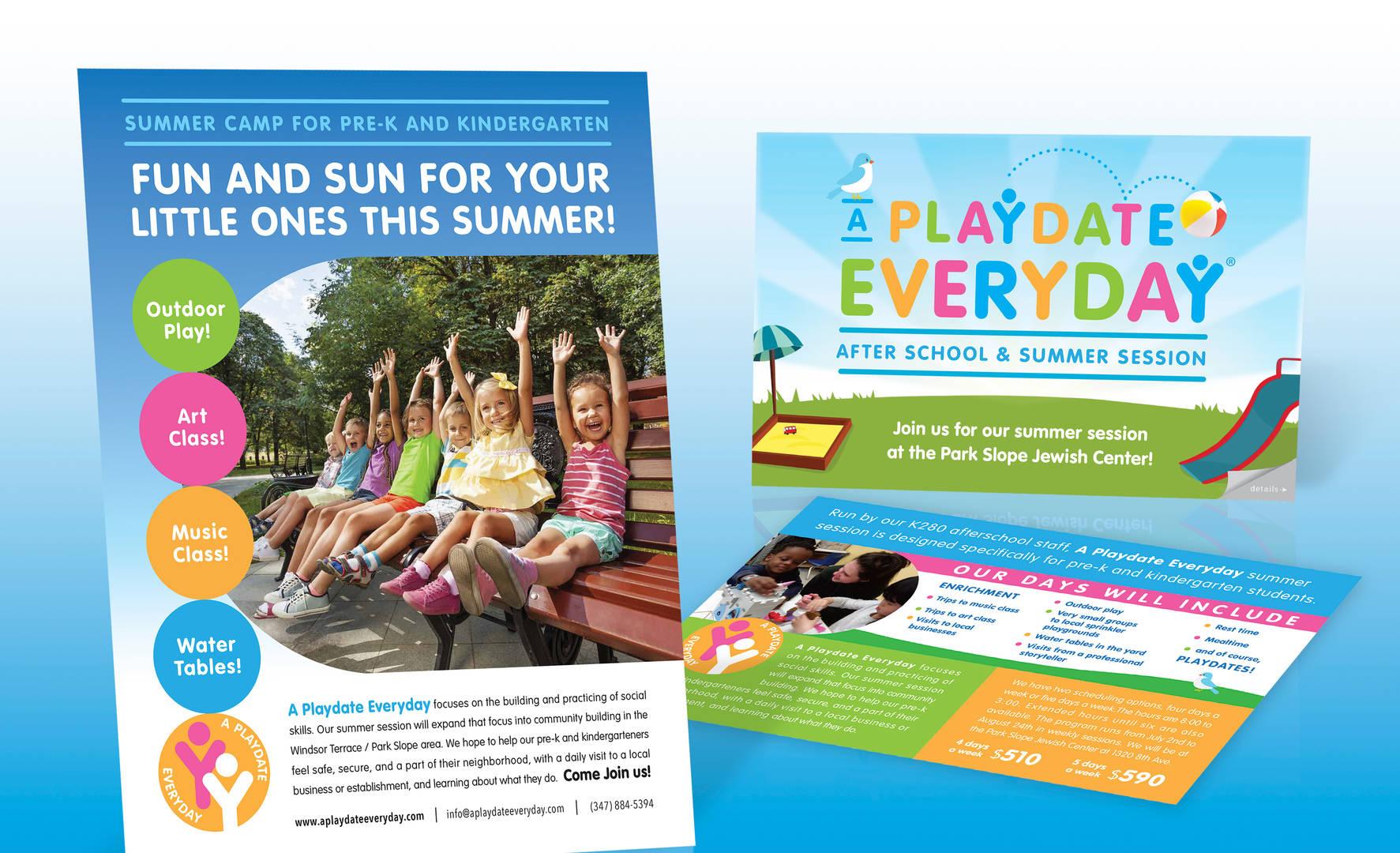 Playdate Summer Marketing portfolio layo